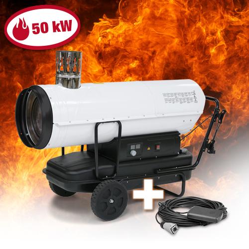 TROTEC-IDE-50-Indirekt-Olheizer-Heizkanone-Heizgeraet-Bauheizer-Olheizung-50-kW